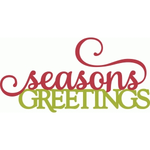 seasons greetings - perfect flourish