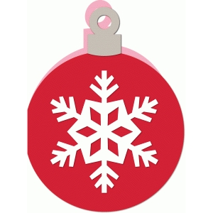 a2 snowflake ornament christmas card