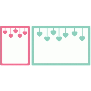 heart banner journaling cards