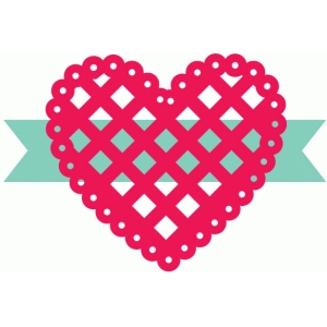 lattice scallop heart