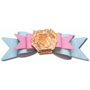 3d layered bow with flower