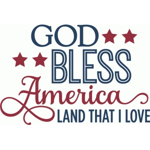 god bless america - phrase