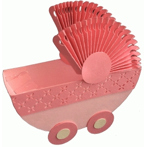 baby carriage treat container