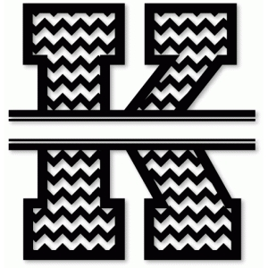 chevron split monogram k