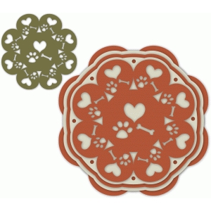 nested circle - hearts, paw, bone