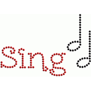 sing - rhinestone word collection