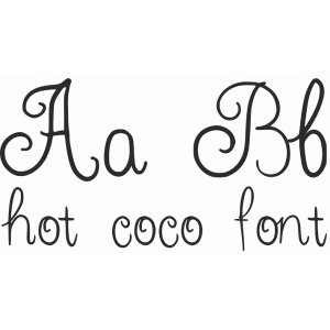 hot coco font