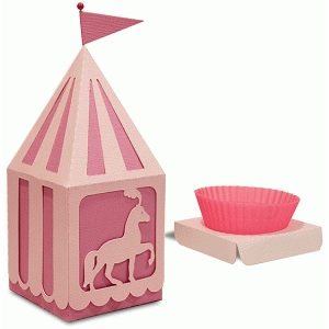 peaked roof cup cake horse box