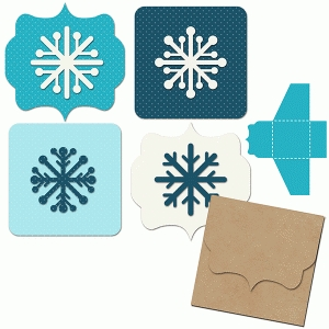 snowflake mini gift tags and envelope