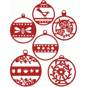 christmas tree ornaments and baubles