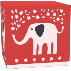 elephant cutout lidded gift or treat box