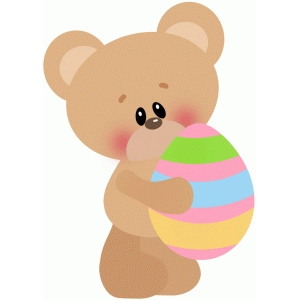 easter bear holding egg