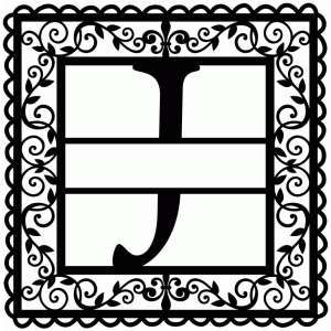 wrought iron vine initial j
