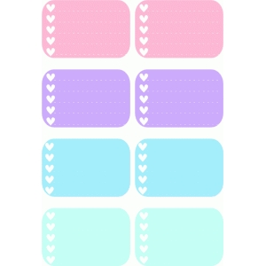 heart checklist boxes