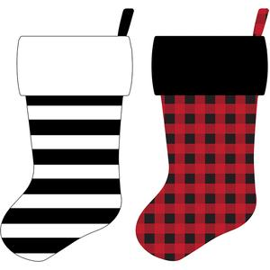plaid and stripe stockings
