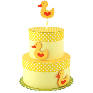 tiered cake baby ducks