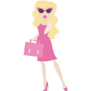 think pink girl in sunglasses