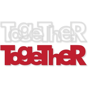 'together' outline word