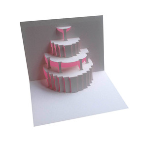 wedding cake popup card