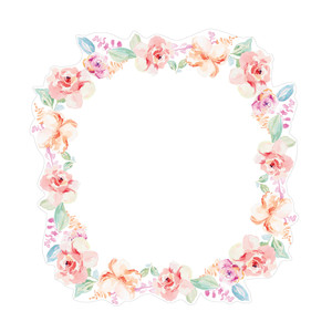 cute watercolor flower wreath