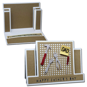 father's day peg board step card