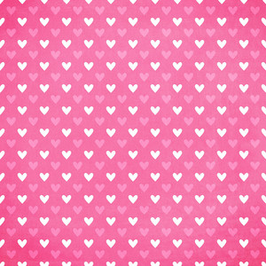 pink with white hearts paper