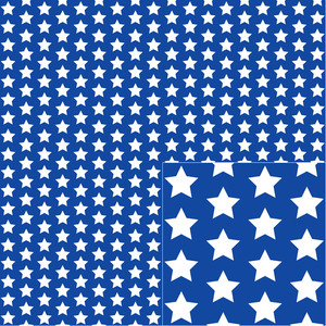 white on blue star pattern