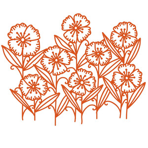 freedom flowers papercut