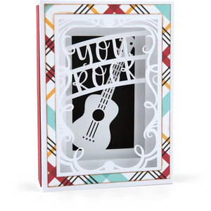 shadow box card guitar