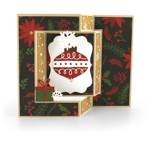 shutter card christmas ornament