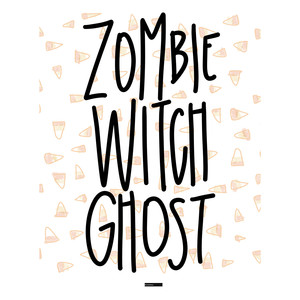 zombie witch ghost printable
