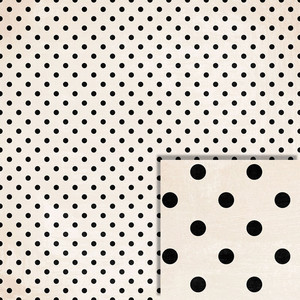 black and white polka dot background paper