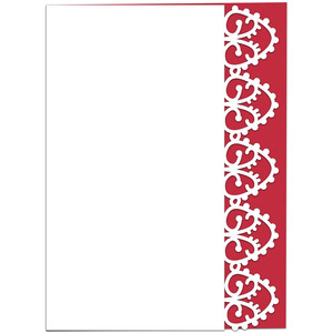 intricate eastern lace edged card