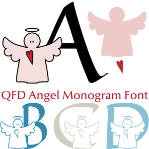 qfd angel monogram font
