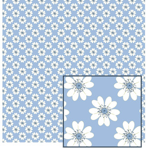 flower on blue pattern
