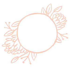 sketched floral wreath