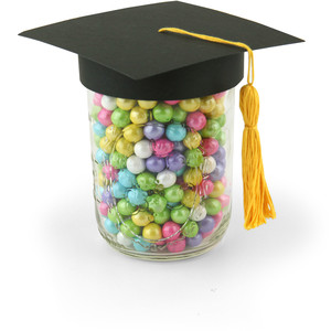 graduation hat wide mouth topper