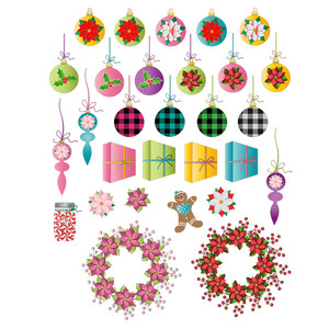 christmas ornaments and more planner stickers