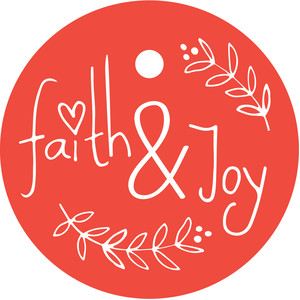 faith & joy gift tag - christmas