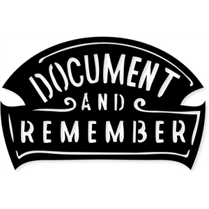 document & remember label