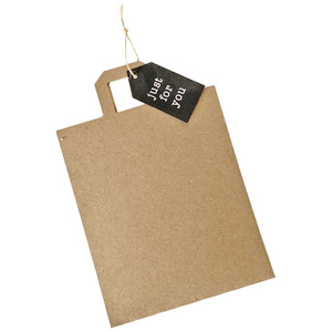 bag gift card holder with straight edge