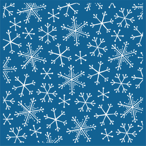 snowflake background stencil