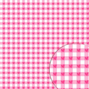 plaid hearts rose pattern