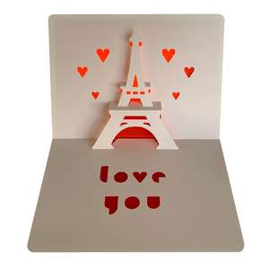 eiffel tower love card