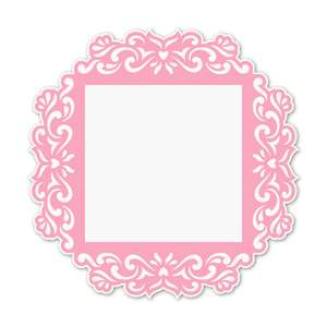 ornate square frame