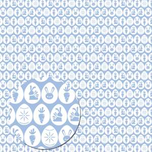 easter eggs pattern (blue)