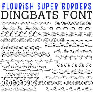cg flourish super borders dingbats