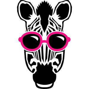 zebra and sunglasses