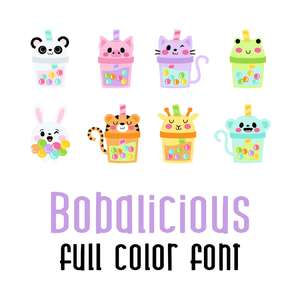 bobalicious full color font