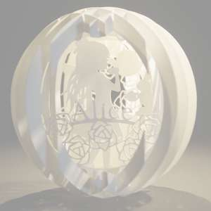 four layered pop up sphere alice